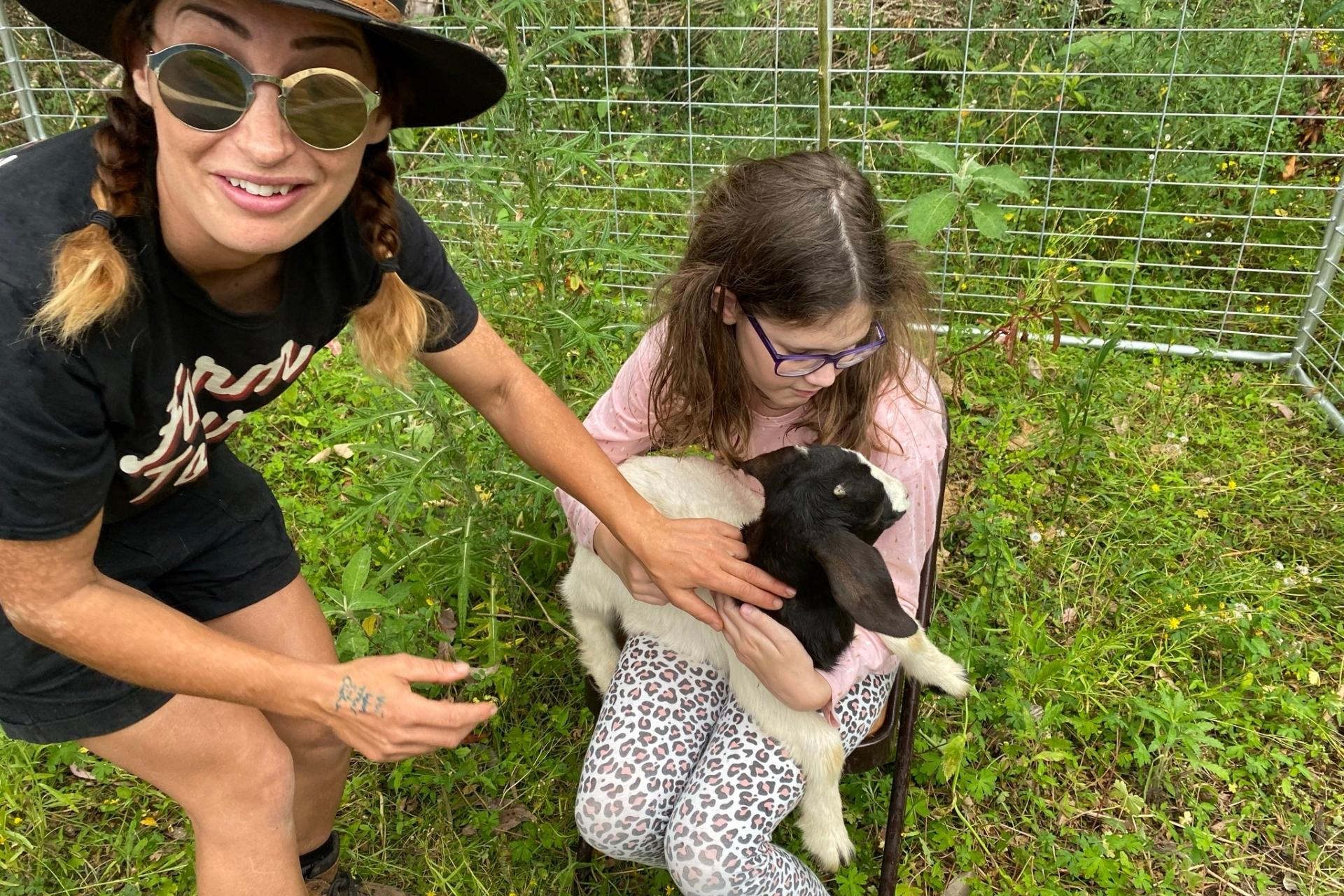 GROW Kids Farm Tour - Hold the Baby Goat.